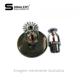 SPRINKLER PENDENTE CROMADO 1/2″ 68ºC CASTY (COM CANOPLA)